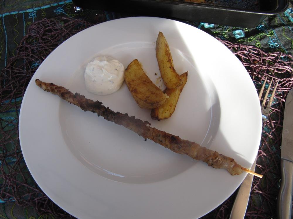 Rezept Nr. 20: Mein Schweinefilet, Grillfackel, Potato-Wedges und gedämpftes Gemüse (2/6)